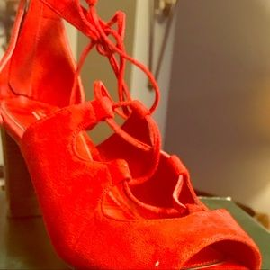 Beautiful Red Sandals never worn only tried on
